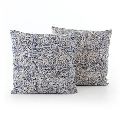 Astin Faded Mosaic Print Cotton Throw Pillow