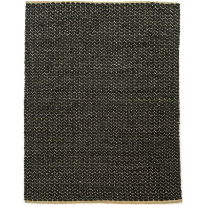 Natalee Hand Woven Black Area Rug Rug Size: Rectangle 9 x 121