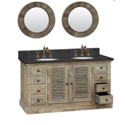 """Legion Furniture 61"""" Solid Recycled Fir Double Vanity Set at Sears.com"""