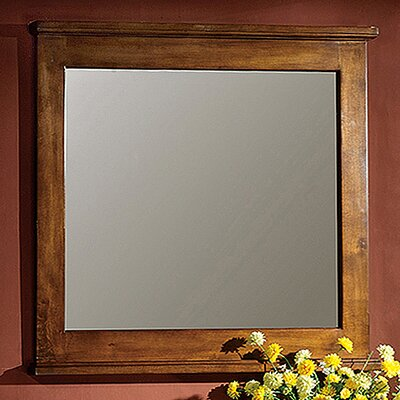 "33"" H x 48"" W Vanity Mirror Finish: Light Wood"