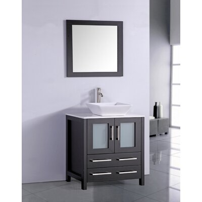 Camillo 30 Single Bathroom Vanity Set with Mirror Base Finish: Espresso