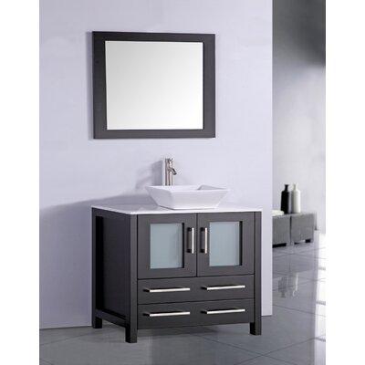 Neuhaus 36 Single Bathroom Vanity Set with Mirror Base Finish: Espresso