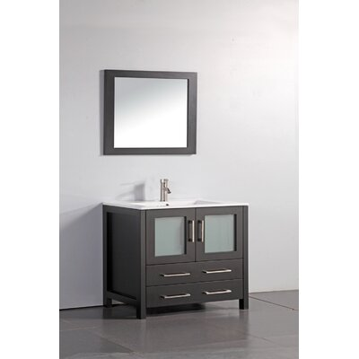 Neuman 36 Single Bathroom Vanity Set with Mirror Base Finish: Espresso