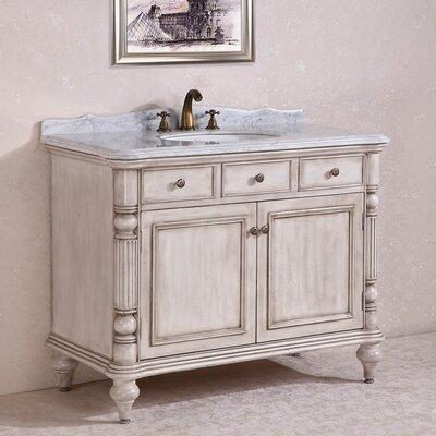 WH 47 Single Bathroom Vanity Set Base Finish: White