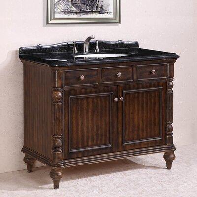 WH 47 Single Bathroom Vanity Set Base Finish: Walnut