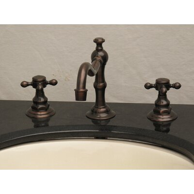 Widespread Faucet with Double Cross Handles Finish: Oil Rubbed Bronze