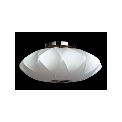 1-Light Semi-Flush Mount Size: 11 H x 25 W x 25 D