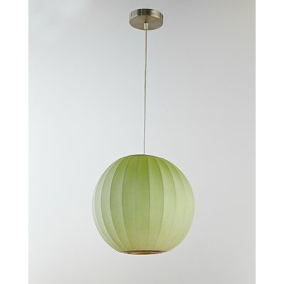1-Light Globe Pendant Shade Color: Green
