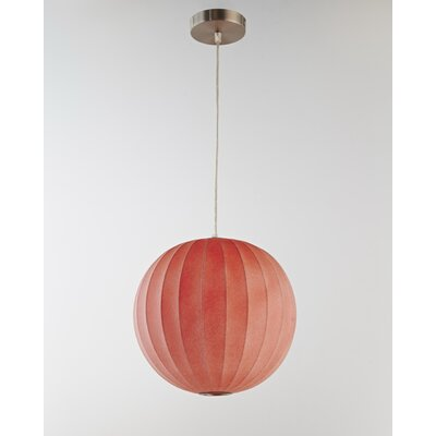 1-Light Globe Pendant Shade Color: Red