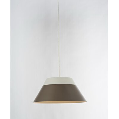 1-Light Mini Pendant Shade Color: Brown