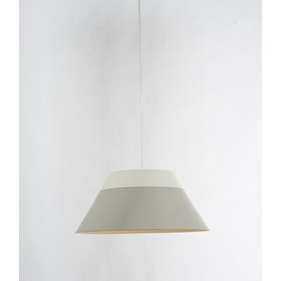 1-Light Mini Pendant Shade Color: Gray