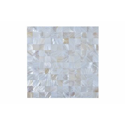 Seashell Mosaic Tile in Rectified Pearl white