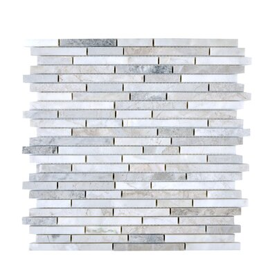 Random Sized Engineered Stone Mosaic Tile in Gray