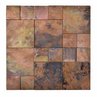 Random Sized Metal Mosaic Tile in Brown