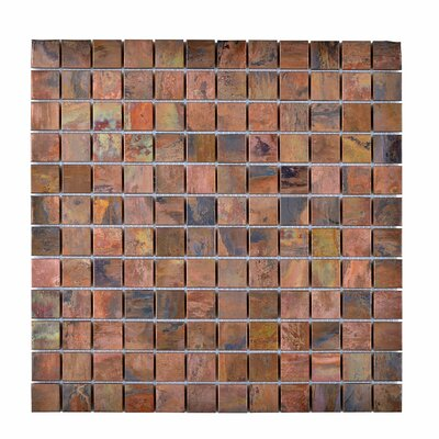 Metal Mosaic Tile in Brown