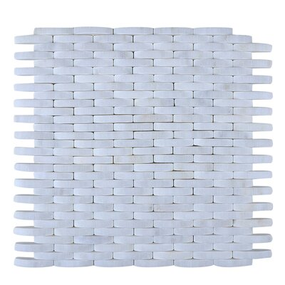 Engineered Stone Mosaic Tile in White