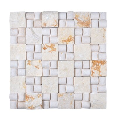 Random Sized Engineered Stone Mosaic Tile in Beige