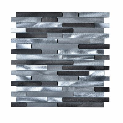 Aluminum Mosaic Tile in Brushed Aluminum Gray