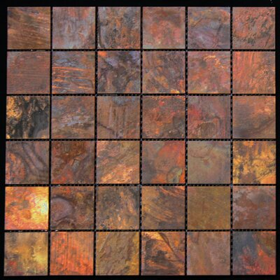 11.88 x 11.88 Copper Metal Tile in Multi