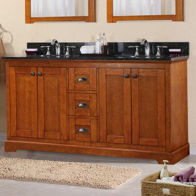 60 Double Sink Bathroom Vanity Set