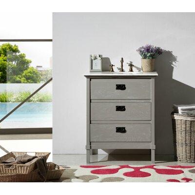 Daucourt 30 Single Bathroom Vanity Set Base Finish: Gray