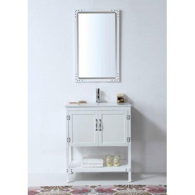 Gildford 30 Single Bathroom Vanity Set Base Finish: White