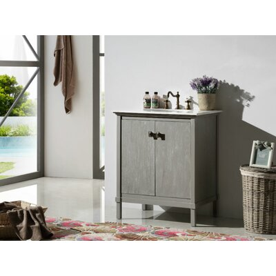 30 Single Bathroom Vanity Set Base Finish: Gray