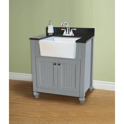Chumley 30 Single Bathroom Vanity Set Base Finish: Gray