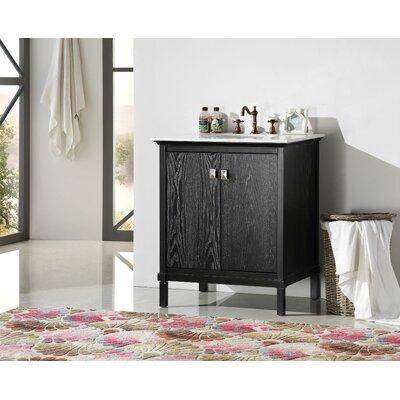 30 Single Bathroom Vanity Set Base Finish: Black