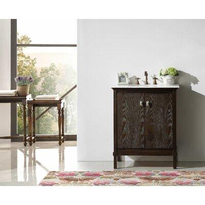 30 Single Bathroom Vanity Set Base Finish: Brown