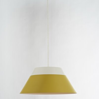 1-Light Mini Pendant Shade Color: Yellow