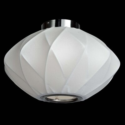 1-Light Semi-Flush Mount Size: 9 H x 14 W x 14 D