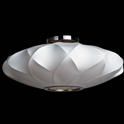 1-Light Semi-Flush Mount Size: 12.5 H x 30 W x 30 D