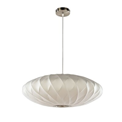 1-Light Oval Pendant Size: 11 H x 30 W x 30 D