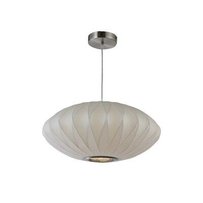 1-Light Oval Pendant Size: 8 H x 18 W x 18 D