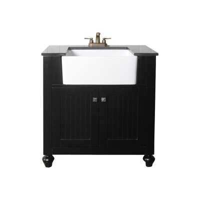 30 Single Bathroom Vanity Set Base Finish: Espresso