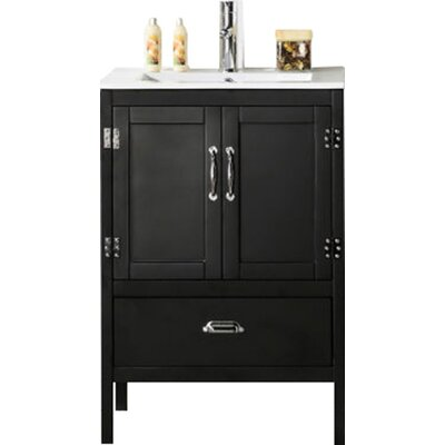 Glastonbury 24 Bathroom Vanity Set Base Finish: Matte Black