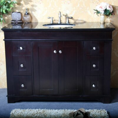 48 Single Sink Vanity Base Base Finish: Espresso
