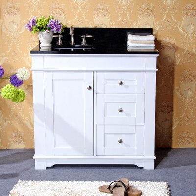 36 Single Sink Vanity Base Base Finish: White