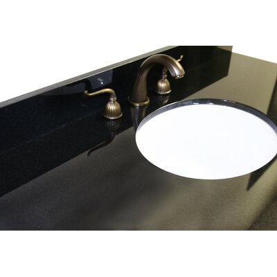 61 Single Bathroom Vanity Top Top Finish: Absolute Black