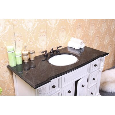 49 Single Bathroom Vanity Top Top Finish: Black Galaxy