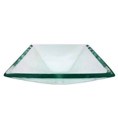 Diamond Glass Square Vessel Bathroom Sink