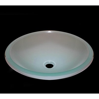 Frosted Circular Vessel Bathroom Sink