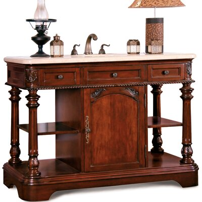 Windsor Sink Chest in Deep Mahogany