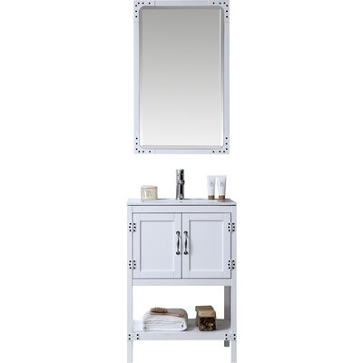 24 Bathroom Vanity Set Base Finish: White