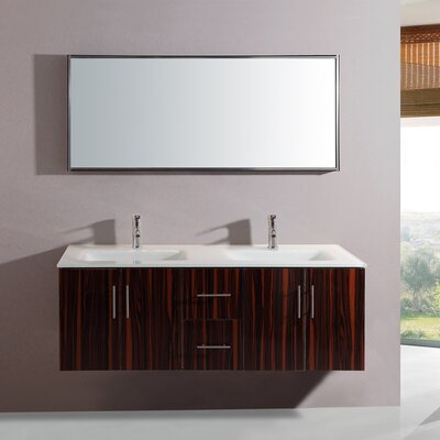 55 Double Vanity Set with Mirror