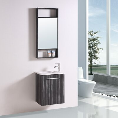 19.5 Single Vanity Set with Mirror