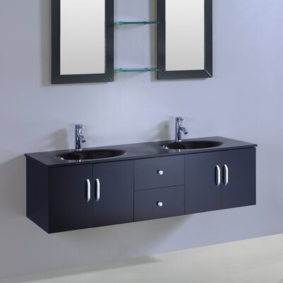 60 Double Vanity Set with Mirror