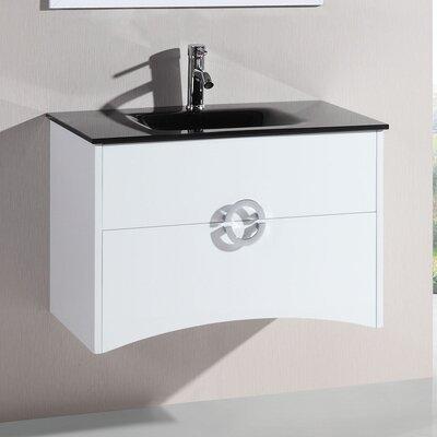 32 Single Vanity Set with Mirror Base finish: White