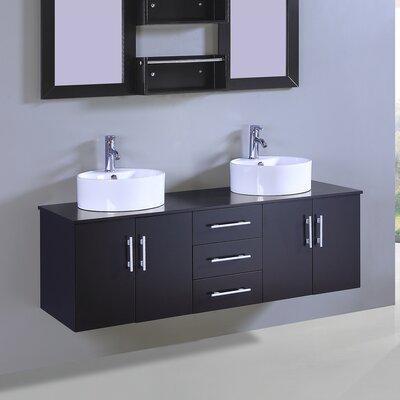 60 Double Vanity Set with Mirror